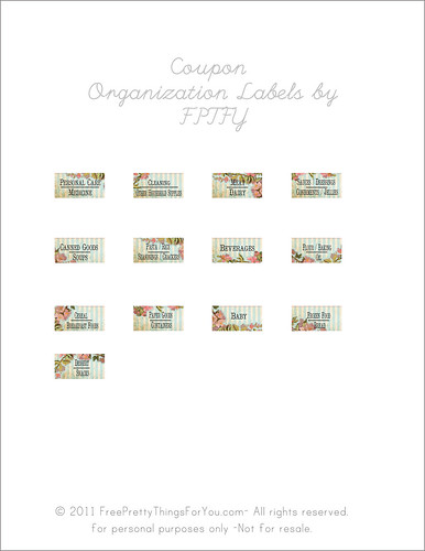 coupon organization labels Free | by Free Pretty Things For You!