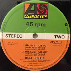 BILLY GRIFFIN:BELIEVE IT OR NOT(LABEL SIDE-B)