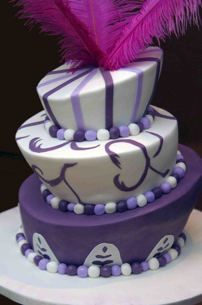 mad hatter wedding cake toppers 3 tier purple madhatter wonky cake topper with feathers 16979