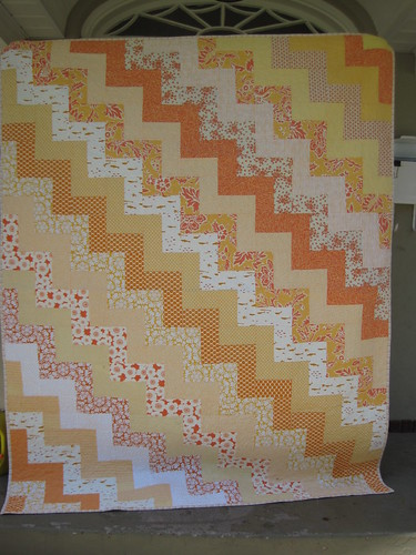 yellow and orange zig zag | by Leigh - leedle deedle quilts