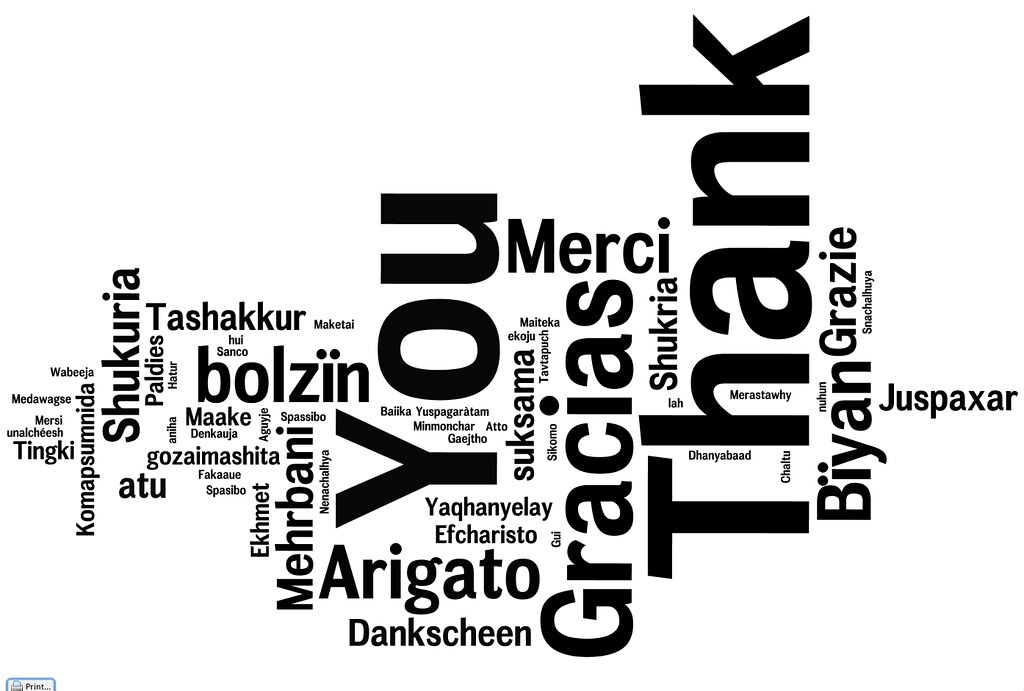 Universal Thank You Note  Thank You Note Created In Many La  Flickr