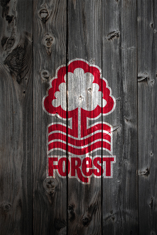 Nottingham Forest Fc Wood Iphone 4 Background Logo On