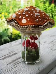 Caramel colored mushroom cap.