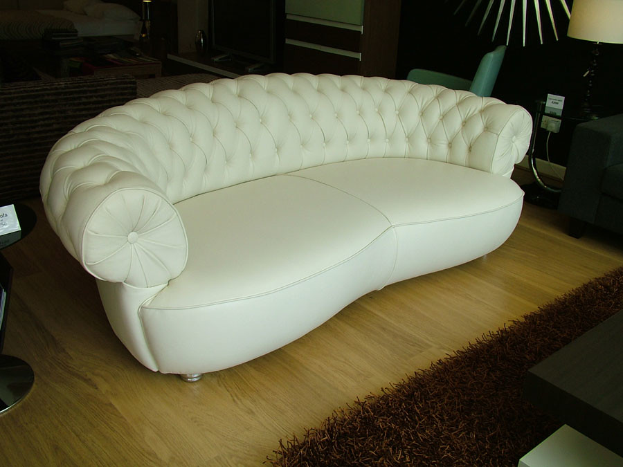 Elly Sofa In White Leather Ins Flickr