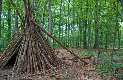 Wood shelter in Short Hills | Kiril Strax | Flickr
