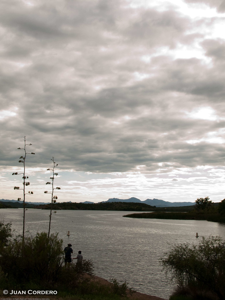 Lake patagonia nogales arizona cloudy skies loom over for Patagonia lake fishing