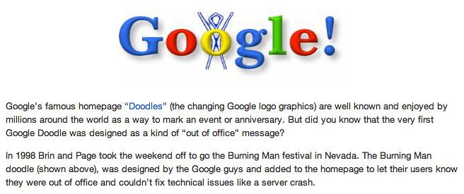 First Google Doodle Burning Man | From Mashable mashable ...