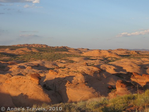 Sunset over the rocks near the Broken Bow Arch Trailhead, Grand Staircase-Escalante National Monument, Utah
