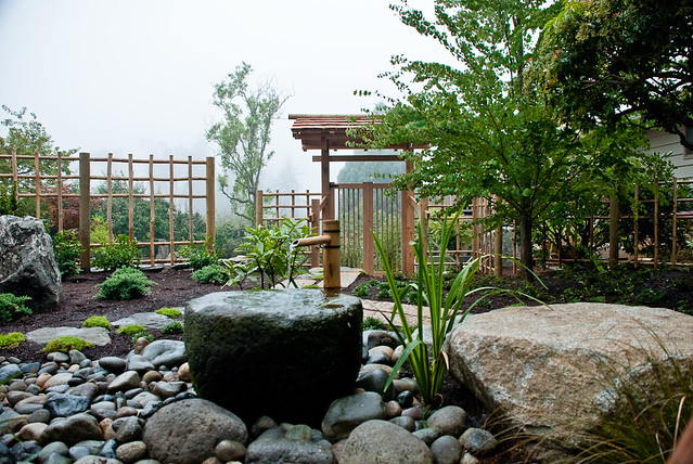 Normandy park japanese inspired garden water feature and for Japanese garden features
