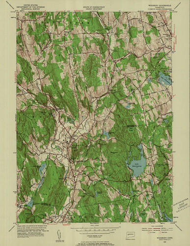 Woodbury Quadrangle 1955 - USGS Topographic Map 1:24,000 | by uconnlibrariesmagic