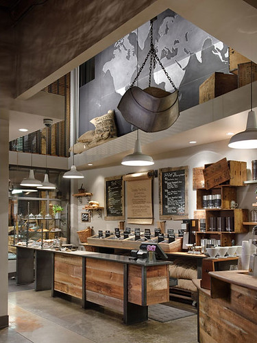Modern coffee shop design modern starbucks coffee shop for Modern coffee bar design
