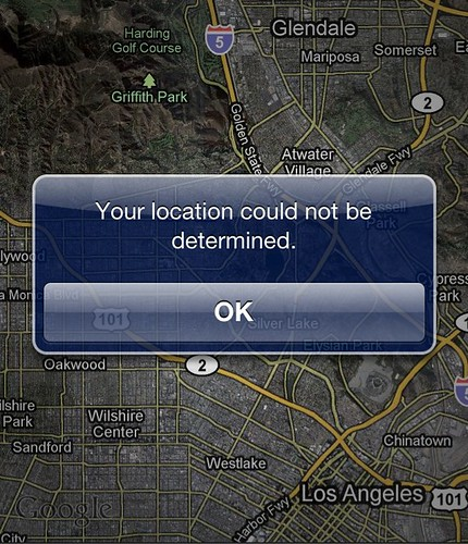 Your location could not be determined. | by Dean Terry