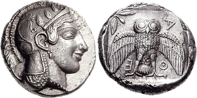 G155 A Rare And Important Greek Silver Decadrachm Of Athen