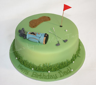 Golf cake  Birthday cake that I made this weekend for my Da ...