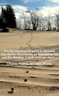 "Inspirational Quotes by Dianne Adams Wisdom Words - Sauble Beach ""Imprints"" 