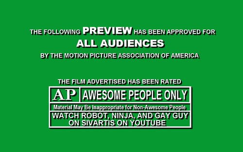 Robot, Ninja & Gay Guy MPAA Title Card | by shaebay