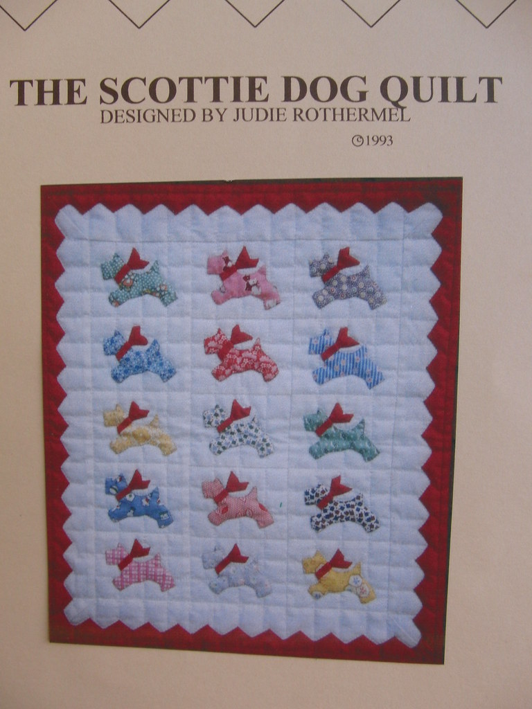 Quilt Pattern For Scottie Dog : Scottie Dog Mini Quilt Pattern! Bought at New Orleans new? Flickr