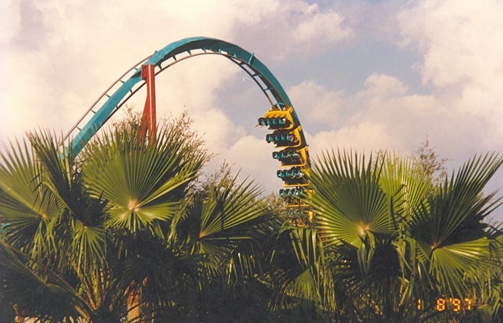 Busch Gardens Quot Montu Quot Roller Coaster A Detail View Of