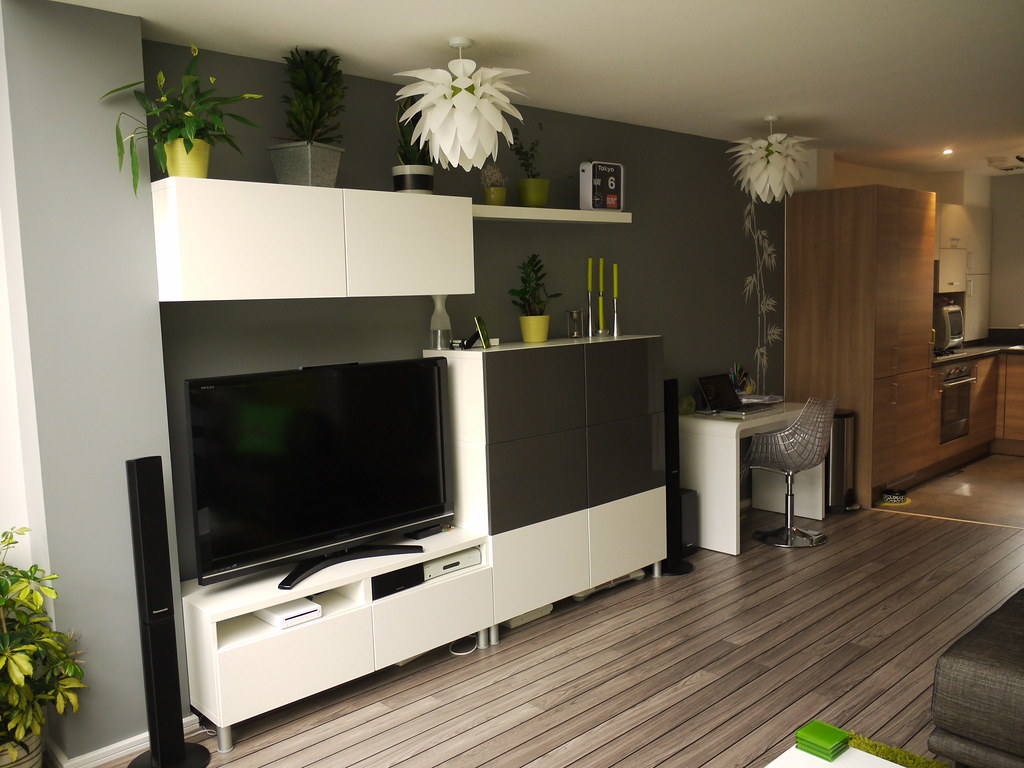 modern tv unit with lots of storage i saw a similar tv. Black Bedroom Furniture Sets. Home Design Ideas
