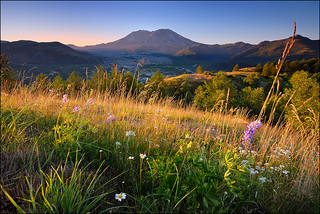Morning light on Mt. Saint Helens.... | by Andrew Kumler
