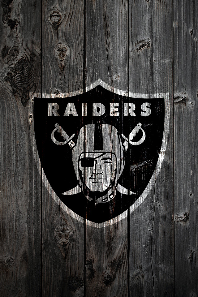 Oakland Raiders Wood IPhone 4 Background