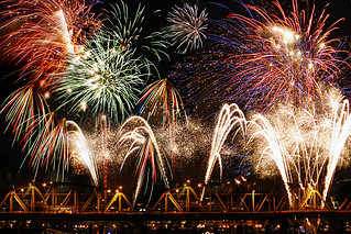 4th of July Fireworks 2010 - Portland Oregon - Digital Blending | by David Gn Photography