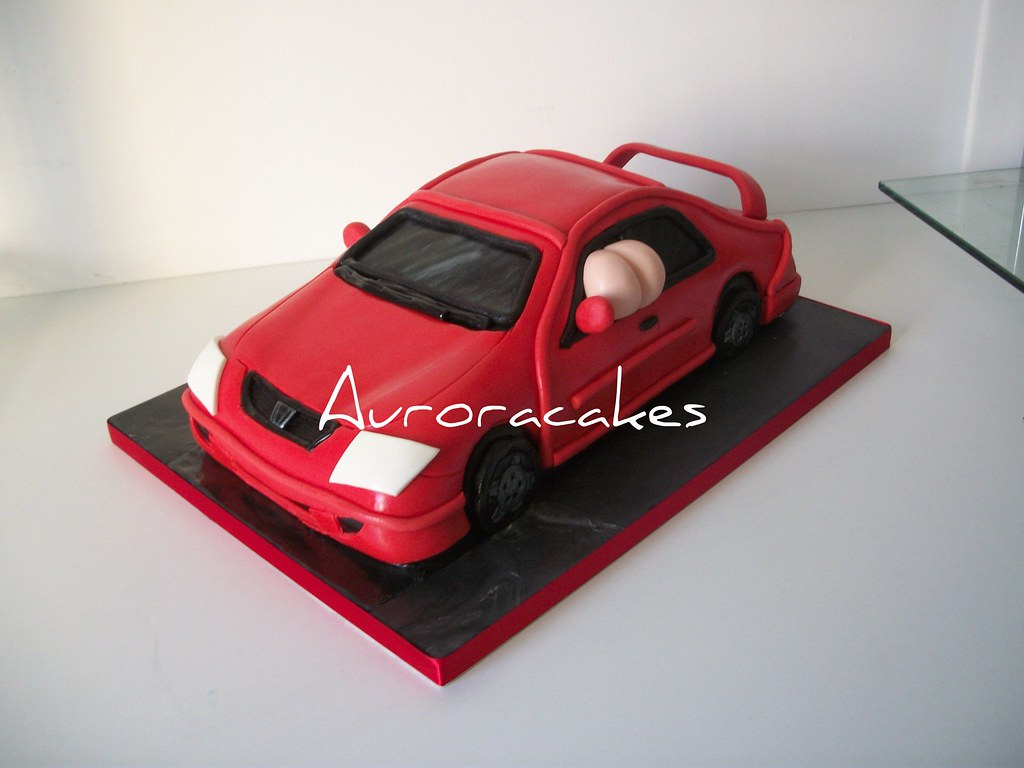 Mooning Red Honda Civic Car Cake This Has Been Made For A Flickr