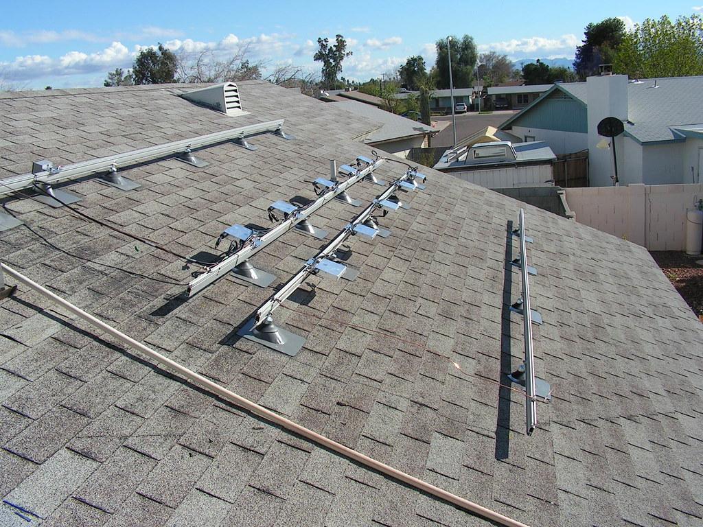 Going Green Solar Racking Amp Micro Inverter Installation