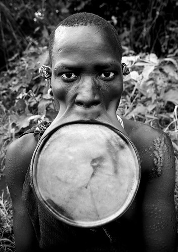 Surma woman with giant lip plate - Kibish Ethiopia | by Eric Lafforgue