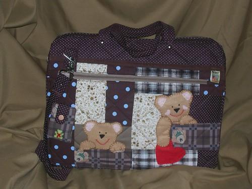 Bolsa De Tecido Para Notebook : Case para laptop ursinhos patchwork beth zenari flickr