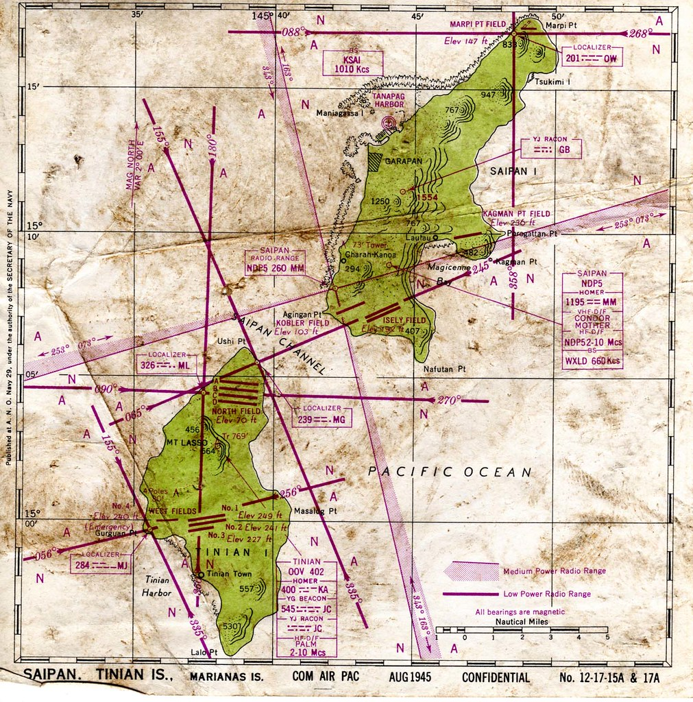 US Navy Map Of Saipan Tinian Islands August Flickr - Us maps navy