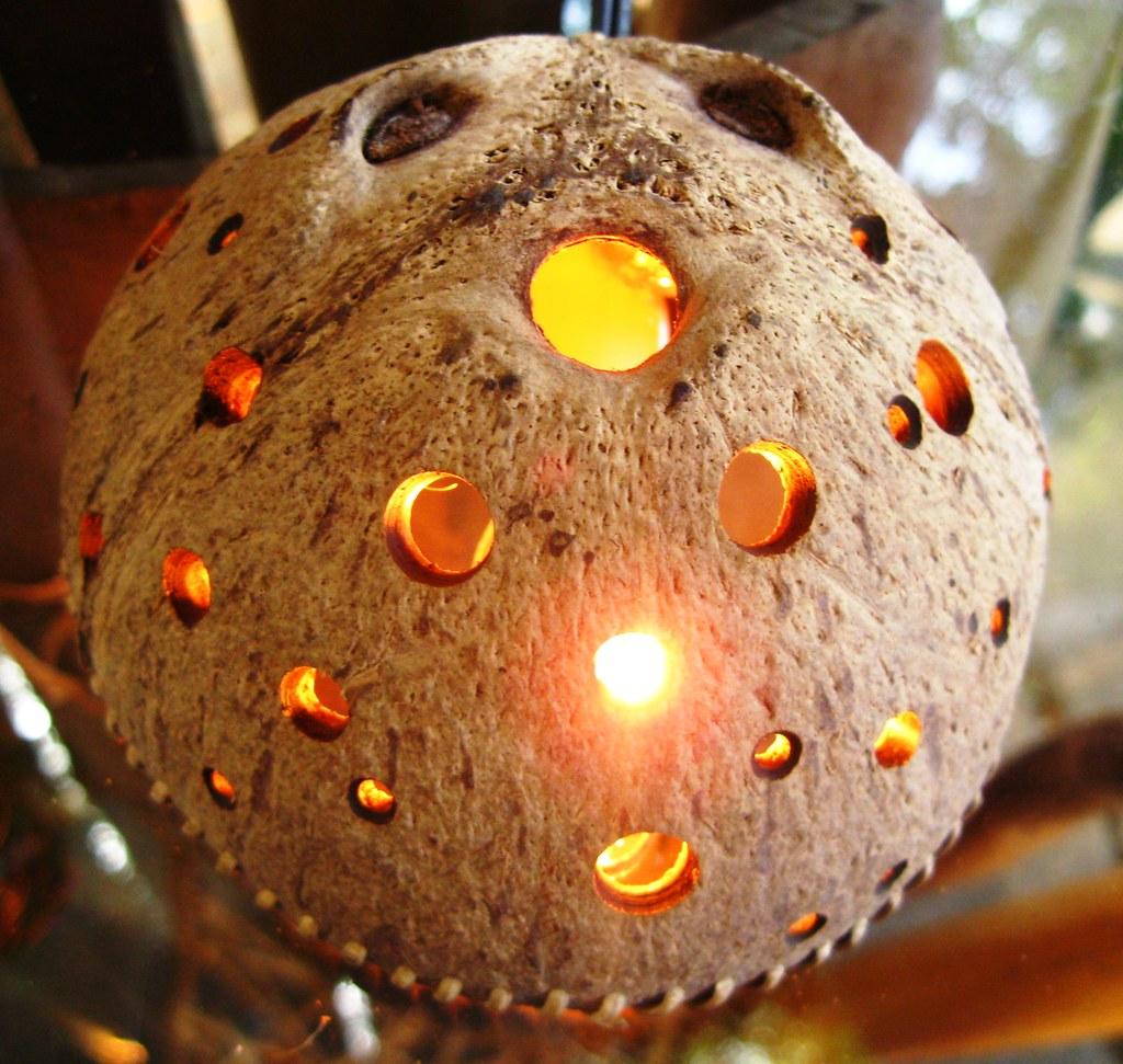 Coconut shell lamp shade kaingud flickr coconut shell lamp shade by kaingud mozeypictures Images