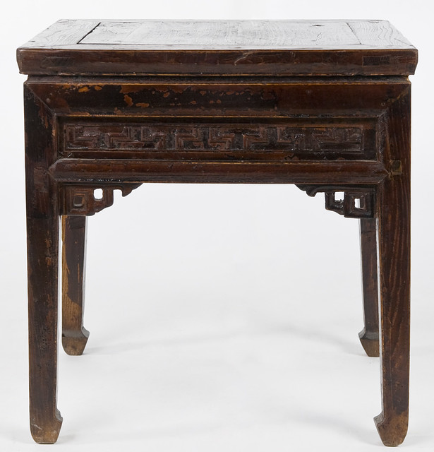Cn1045y antique chinese stools antique chinese square for Square coffee table with stools