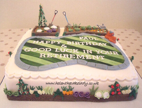 Veg patch | Birthday & Retirement cake with a vegatable ...