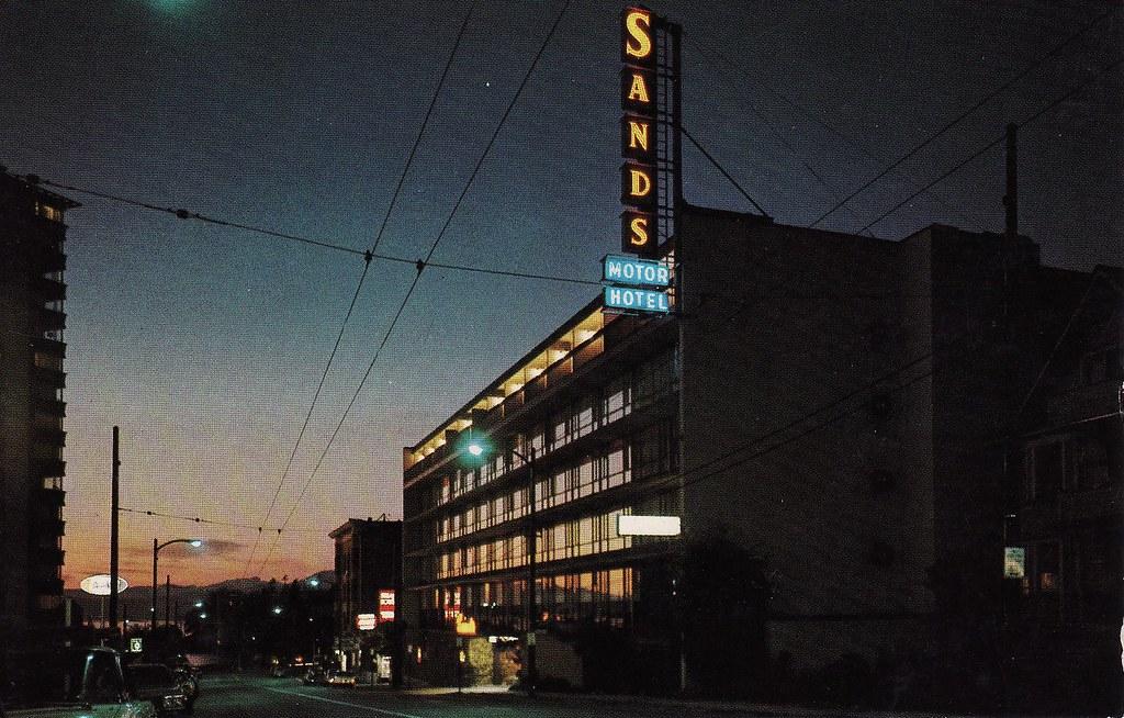 Postcard Sands Motor Hotel The Sands Motor