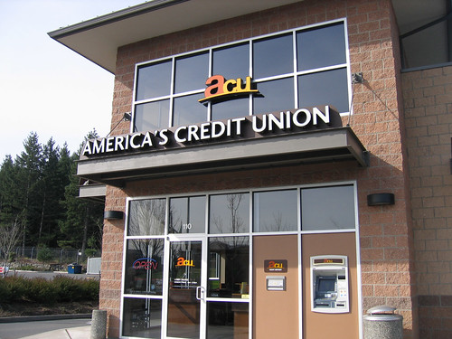 Exterior Credit Union Signage | Bank Signage | Channel Letters | America's Credit Union | by I-5 Design & Manufacture