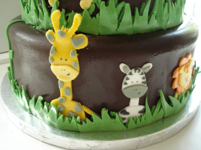 Safari Animals Cake Safari Animal Baby Shower