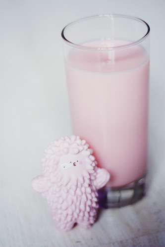 Strawberry milk. | by 'D a p h n e.