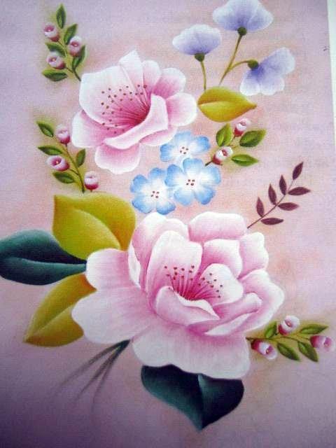Juego de ba o con rosas j d ba o en tergal rosa costo - Pintura para azulejos de bano ...