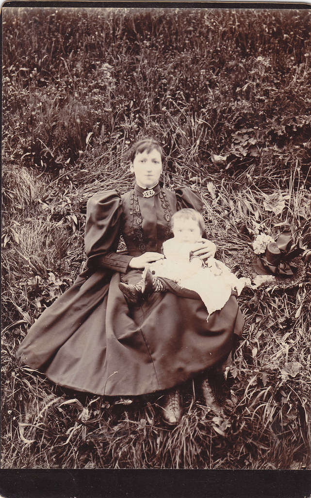 Anonymous woman and child.