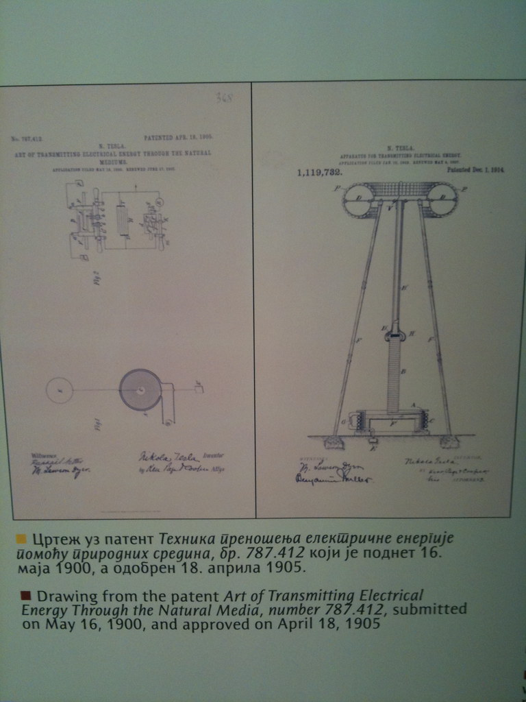 Nikola Tesla Museum Drawing For Patent 787 412 Drawing
