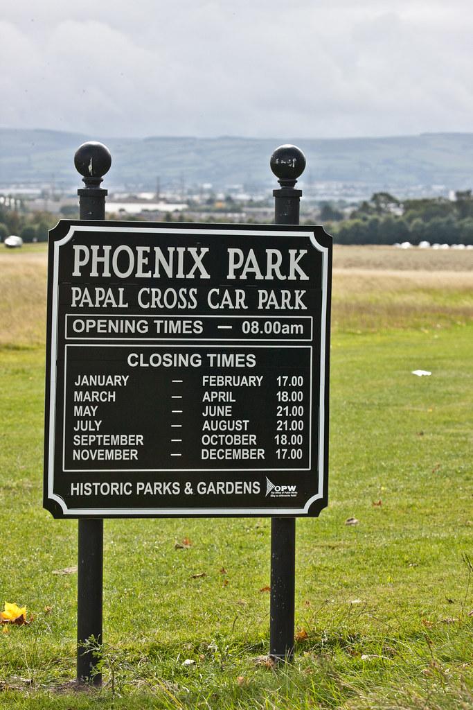 Phoenix Park Papal Cross Car Park The Papal Cross Is A