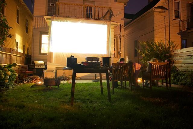 backyard movie theatre flickr photo sharing