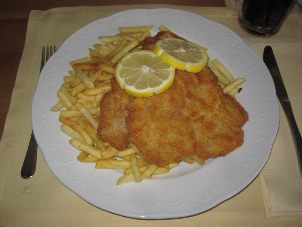 401 schnitzel i know i had one yesterday too but it for Australian modern cuisine