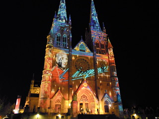 Vivid Sydney 2010 - St Mary's Cathedral | by WithTheClouds