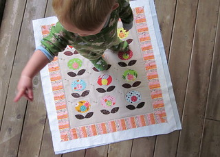 Pop Flower Quilt - Urban Home Goods Swap - my helper | by twinfibers
