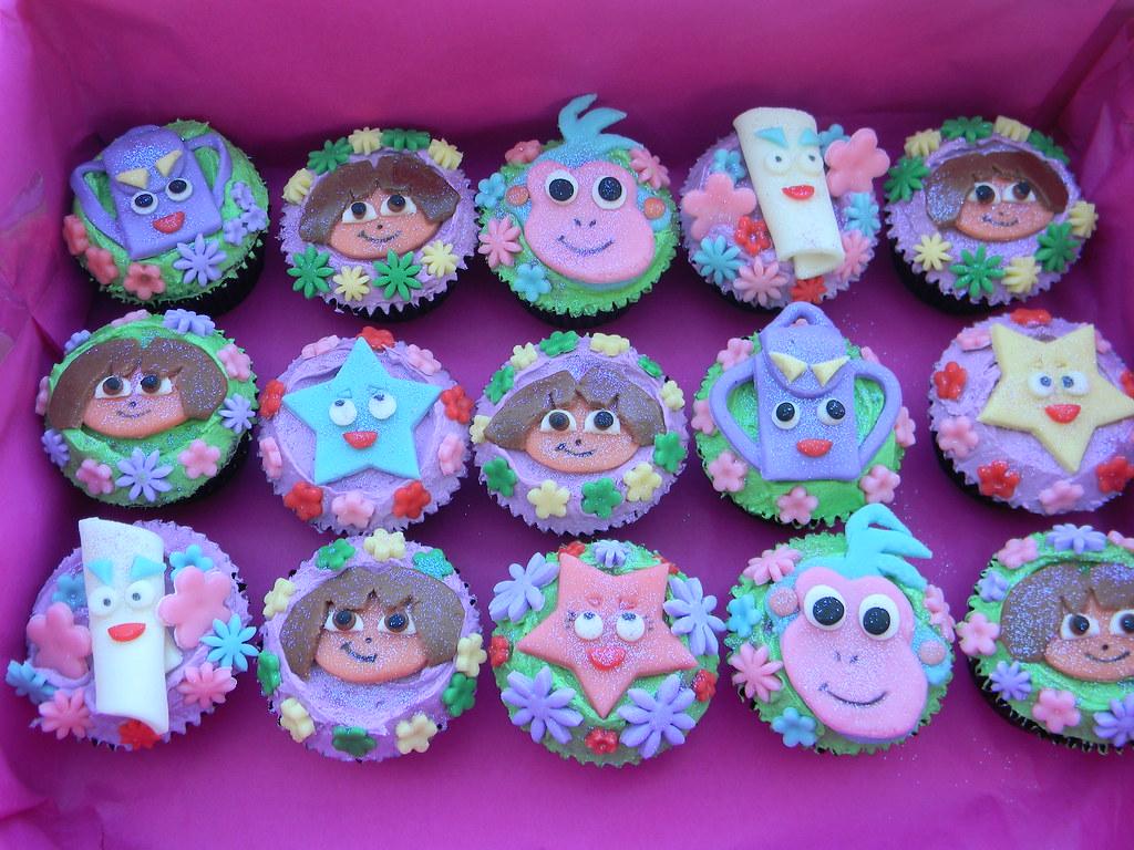 Dora Cake Recipe In English: Dora The Explorer Cupcakes