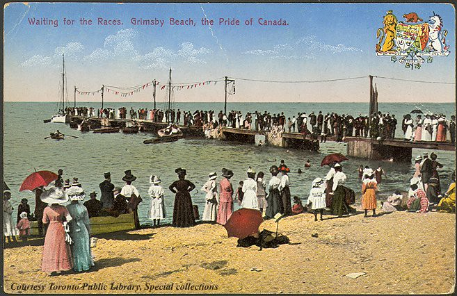 waiting for the races  grimsby beach  the pride of canada