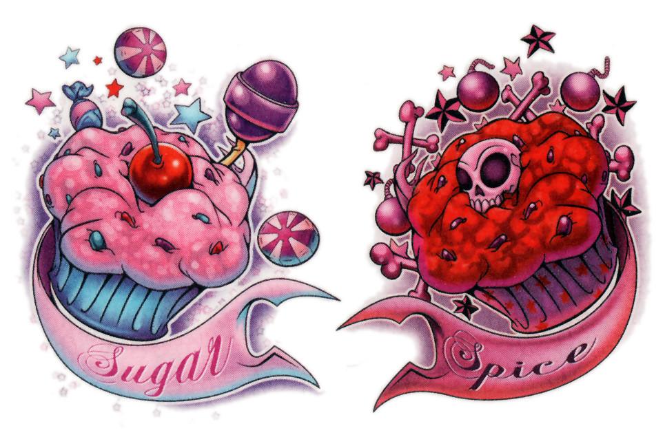 Sugar & Spice cupcakes | LandauArtwerx temp tattoo scan