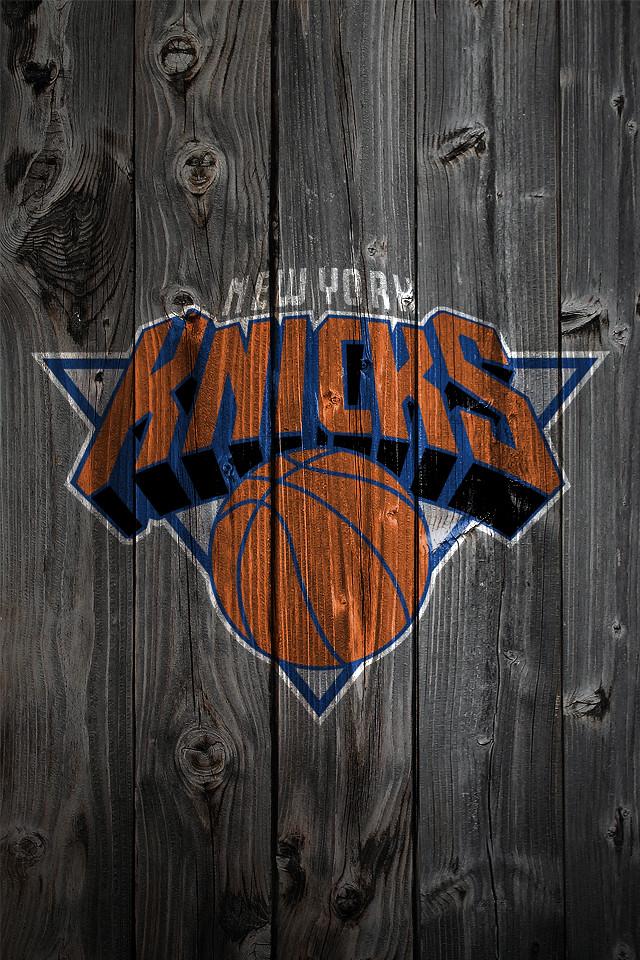 New York Knicks Wood IPhone 4 Background